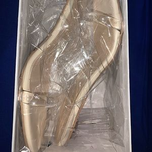 Clear Heeled Mules